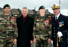 Saint-Malo : Cérémonie de tradition de l'Ecole des Fusiliers Marins  …