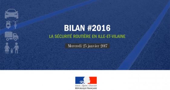 Sécurité Routière e Ille et Vilaine – Bilan 2016