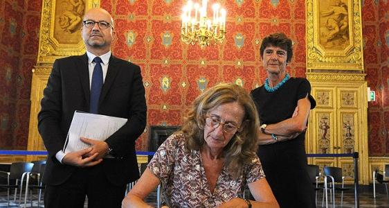Cour d'Appel de Rennes : visite de Nicole Belloubet  garde des Sceaux   ministre de la Justice
