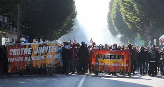 Rennes  : Manifestation contre la politique du gouvernement