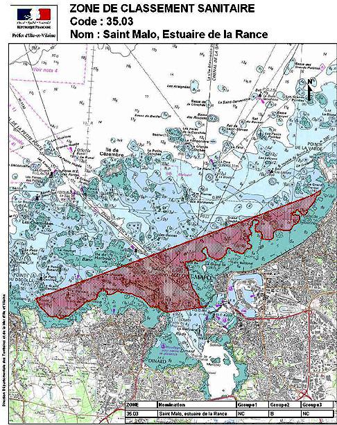 Alerte sanitaire sur la zone saint malo estuaire de la for Estuaire de la rance
