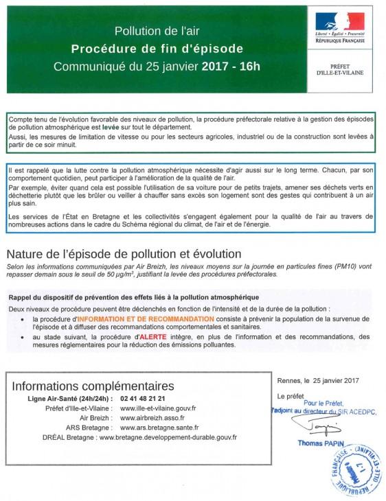 Prefecture-Ille-et-Vilaine Fin Pollution