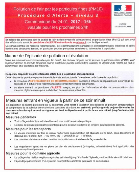 communique-pollution-air-Prefecture Ille et Vilaine 1