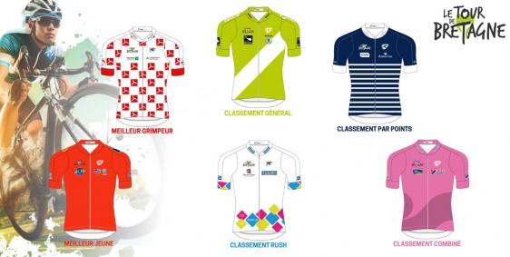 Maillots-leaders-2018 Dossier de presse Tour de Bretagne