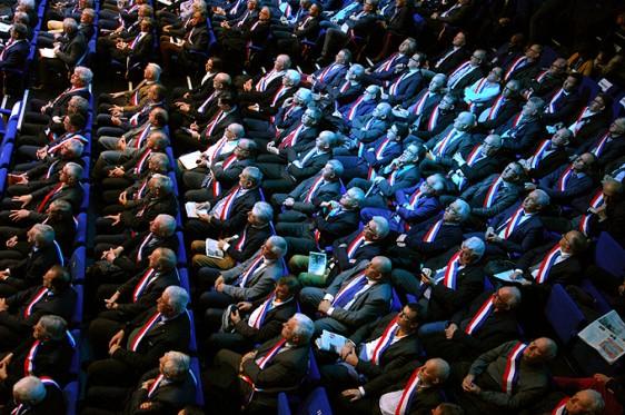 Emmanuel-Macron---Maires-3 Photo-Patrick -Desjardins-©